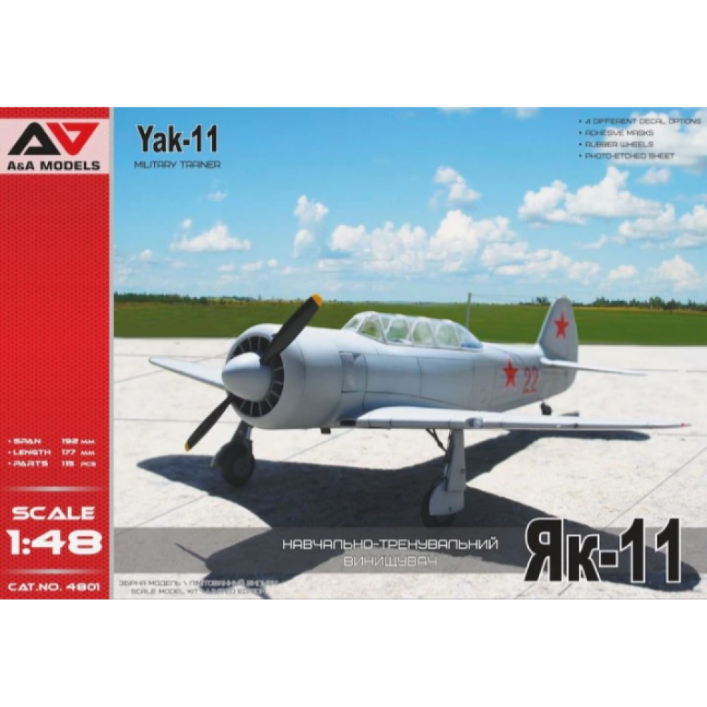 Yakovlev Yak-11 Military Trainer  1/48 A&A Models 4801