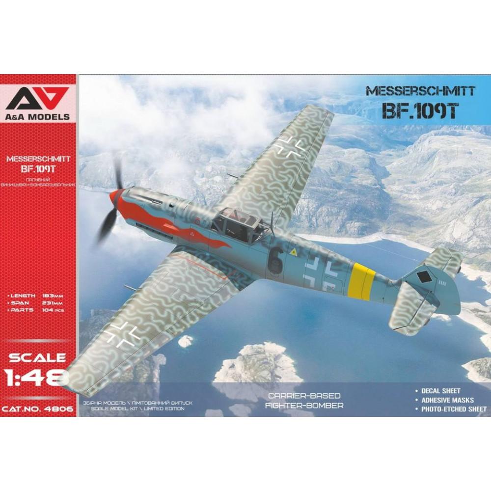 Messerschmitt Bf.109 T1 / T2 carrier-based fighter-bomber 1/48 A&A Models 4806