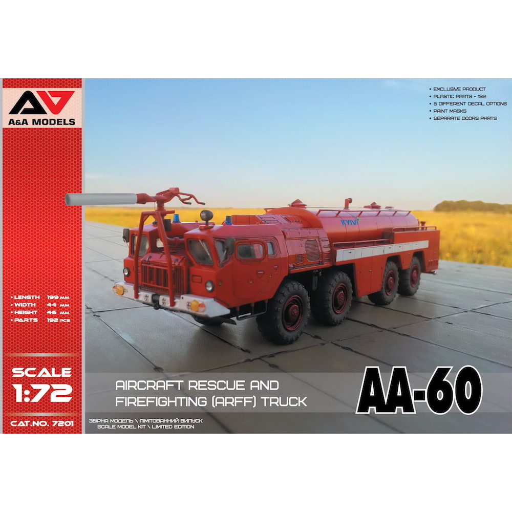 AA-60 Firefighting truck  1/72 A&A Models 7201