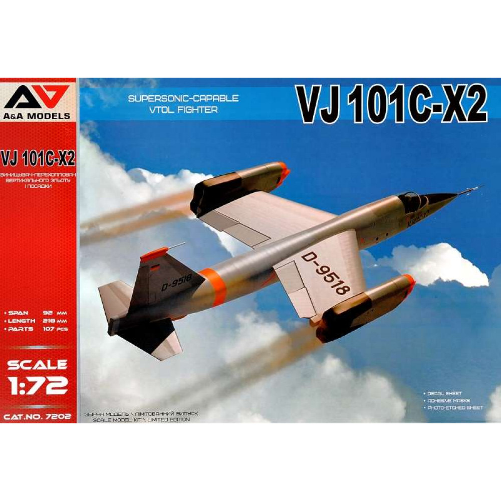 VJ101C-X2 Supersonic capable VTOL fighter  1/72 A&A Models 7202