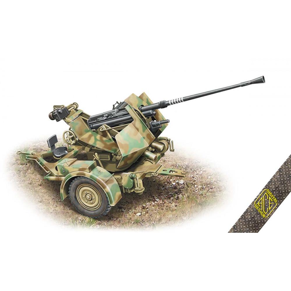 3.7cm Flak 36 anti-aircraft machine gun on an Sd.Ah.52 trailer 1/72 ACE 72570