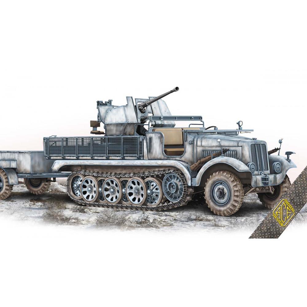 3,7cm Flak 36 auf Fahrgestell mZgKw 5t Sd.Kfz.6/2  1/72 ACE 72573