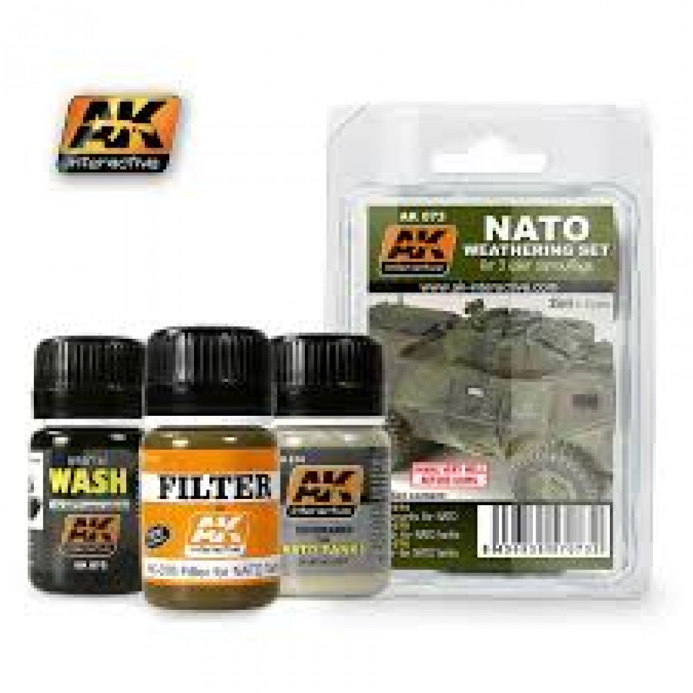 NATO weathering set for 3 colors camouflage   Ak-interactive AK073