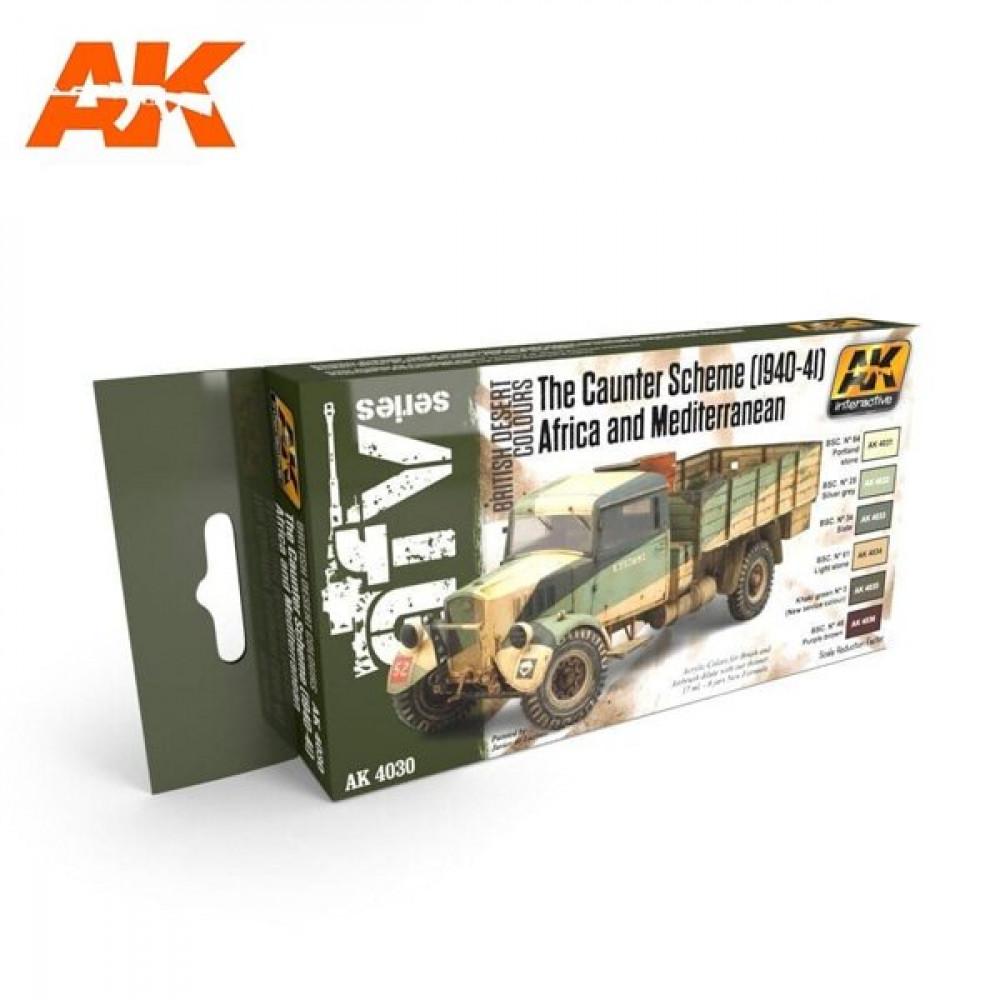 "AK4030 AK - Set ""Caunter"" 1940, Africa and Mediterranean 17ml"