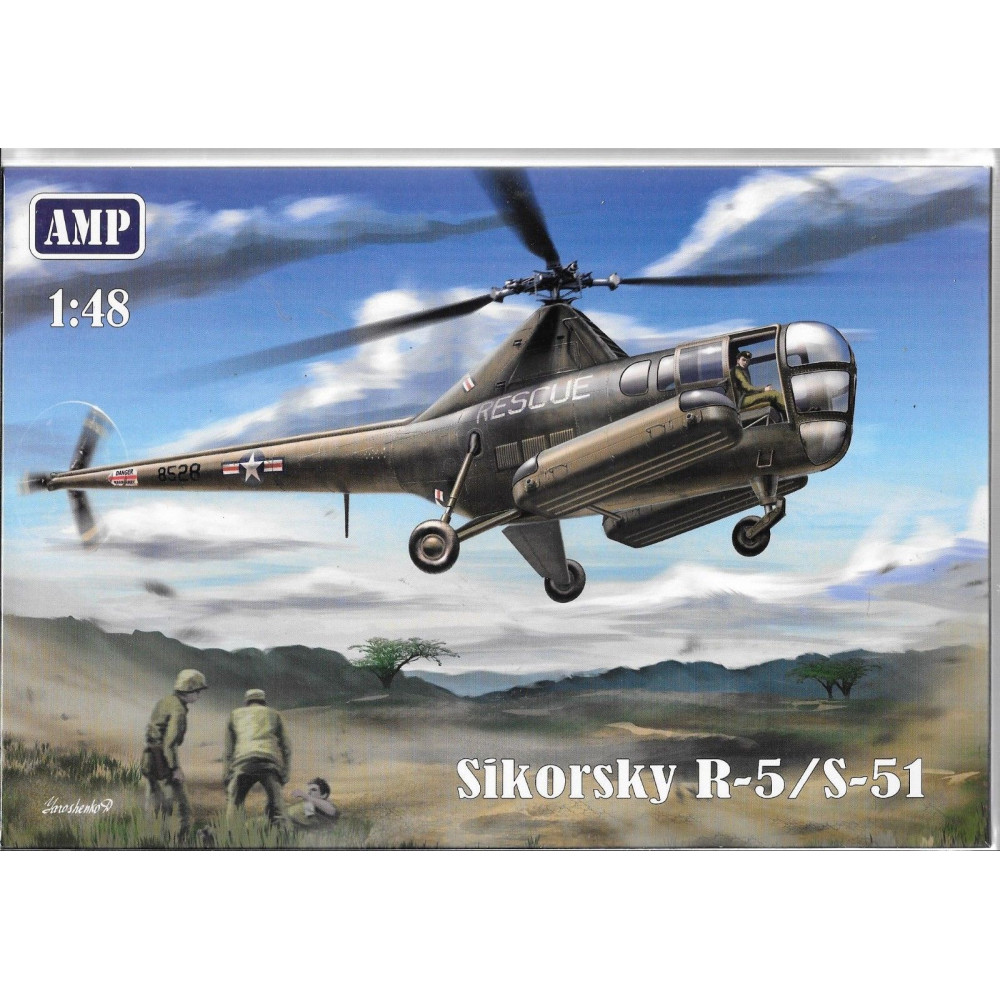 SikorskyR-5/S-51  USAF rescue 1/48 AMP 48-002