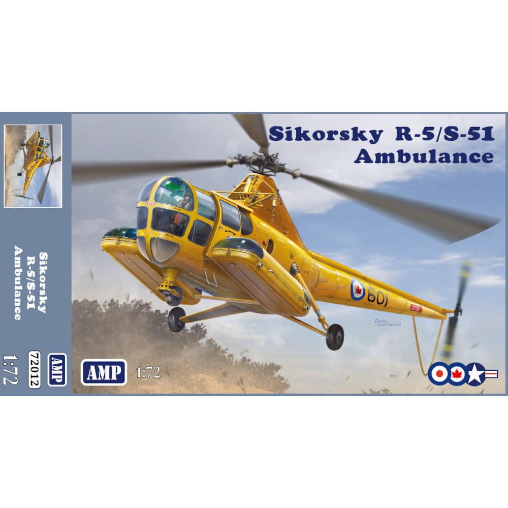 Sikorsky R-5/S-51 Ambulance 1/72 AMP 72-012