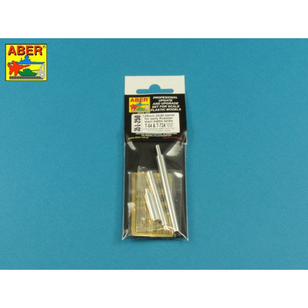 125mm 2A46 Barrel for Russian Tank T-64 & T-72A – without thermal cover 1/35 ABER 35 L-250