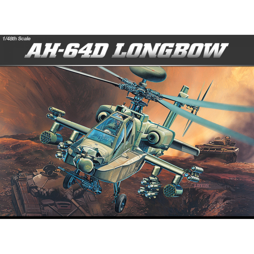 Helicopter AH-64D LONGBOW 1/48 Academy 12268