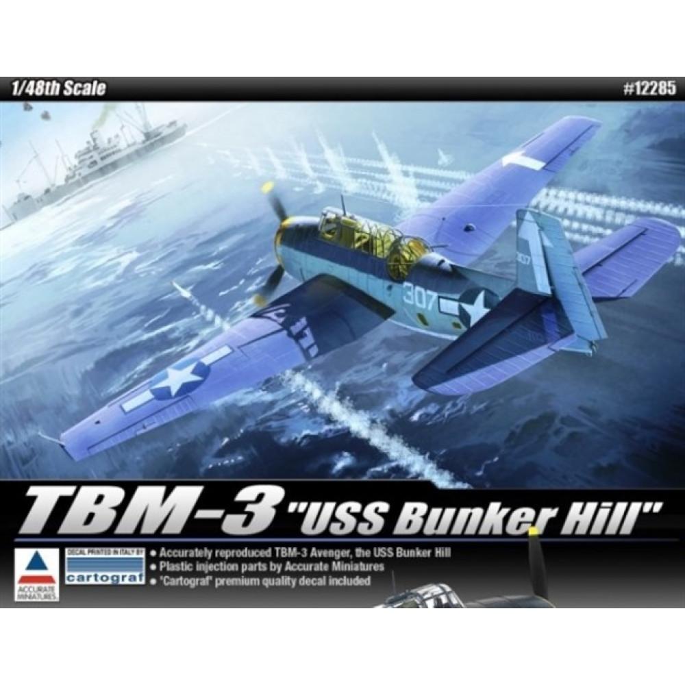 TBM-3 [USS Bunker Hill] 1/48 Academy  12285