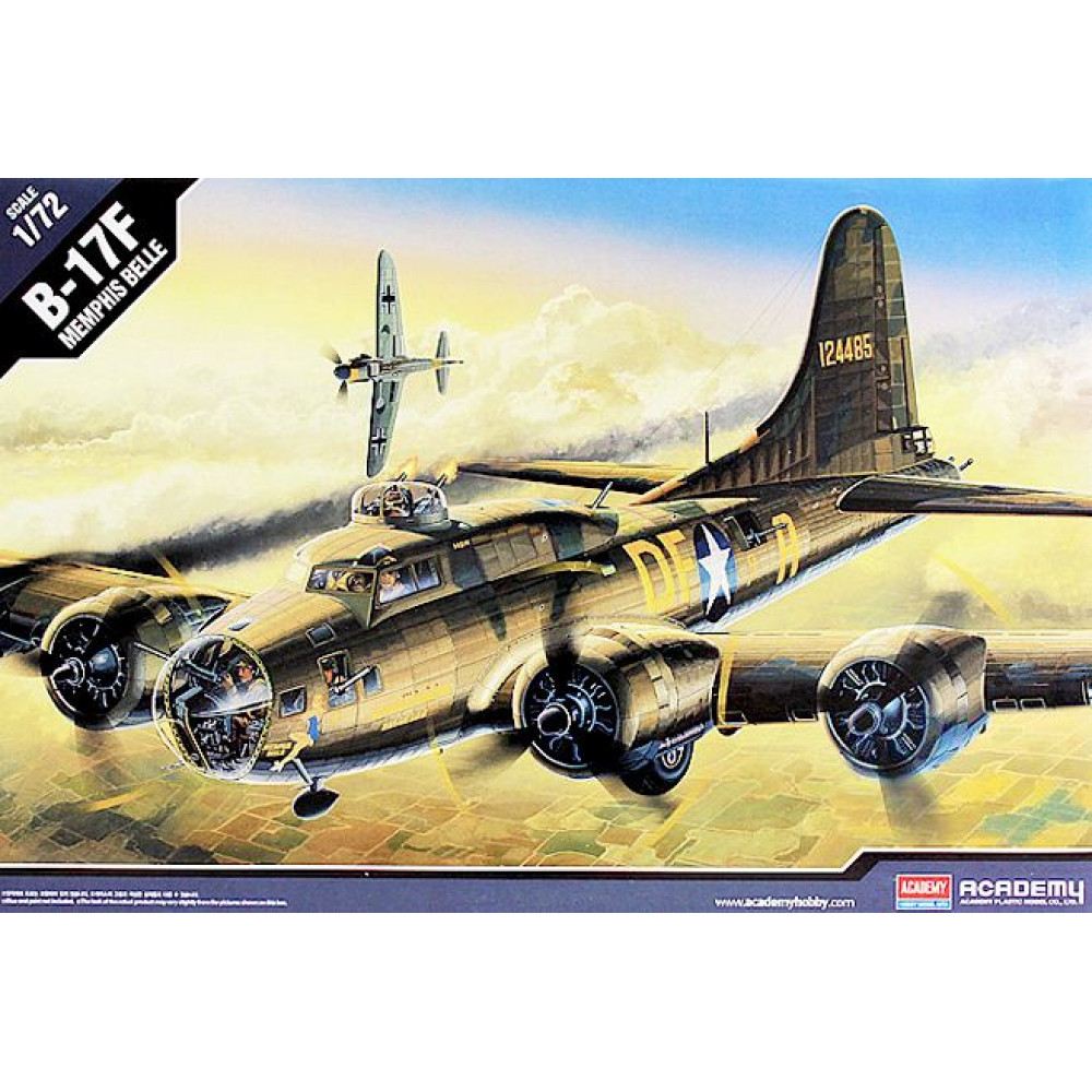 "US Army B-17F ""Memphis Belle"" Bomber 1/72 Academy 12495"