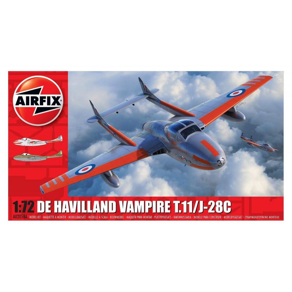 deHavilland Vampire T.11 / J-28C   1/72 Airfix   02058A