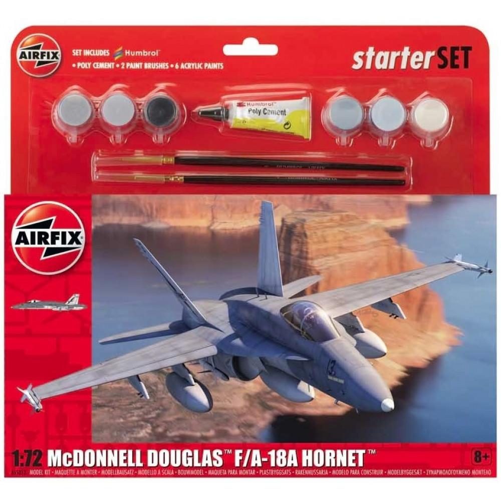 McDonnell Douglas F-18A Hornet - Starter Set 1/72 Airfix 55313