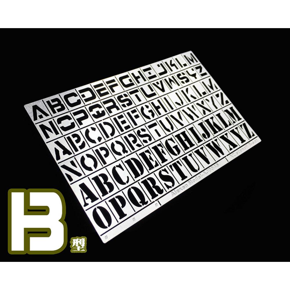 Alphabet Airbrush Template 2 Alexen Models AJ0046