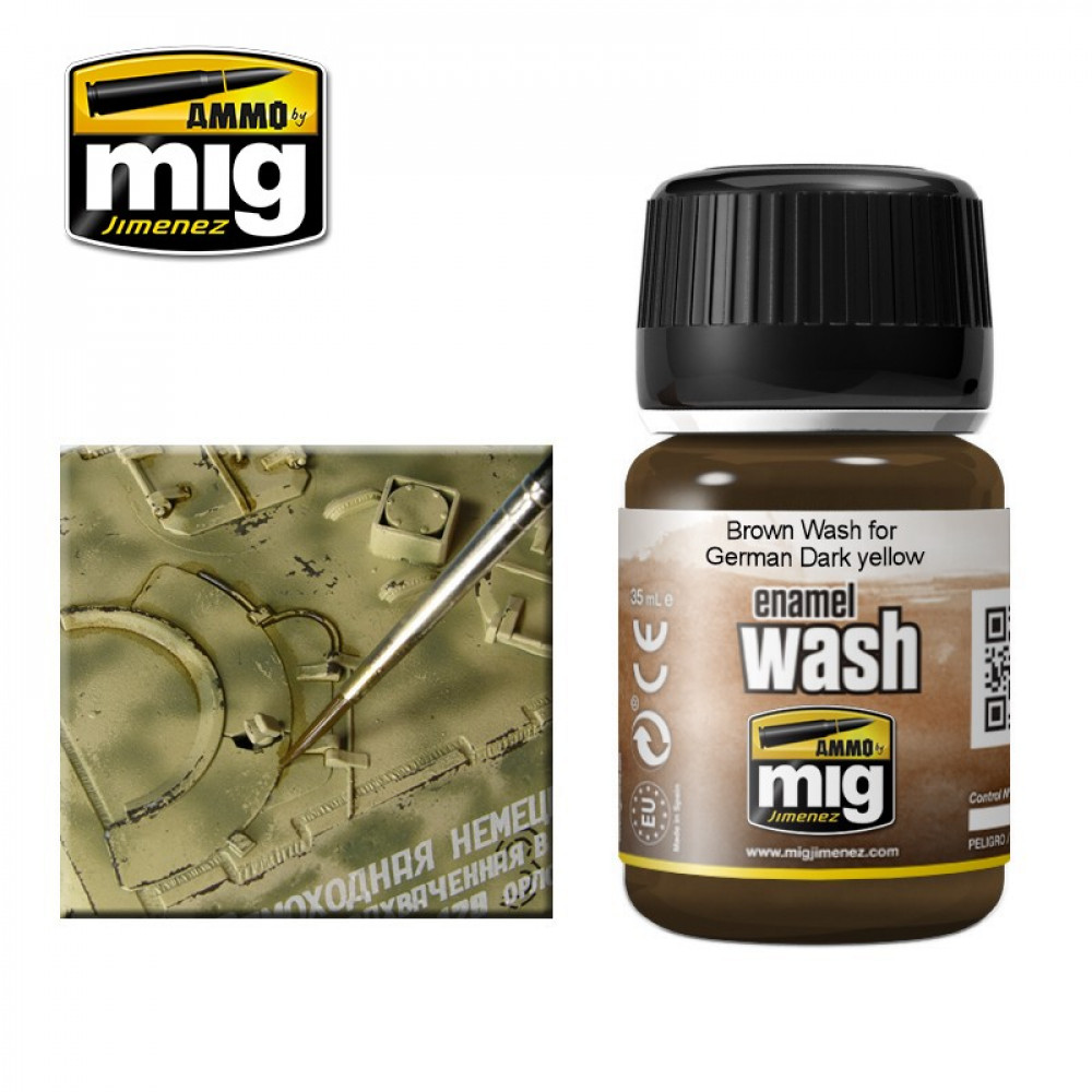 BROWN WASH FOR GERMAN DARK YELLOW  Ammo Mig 1000