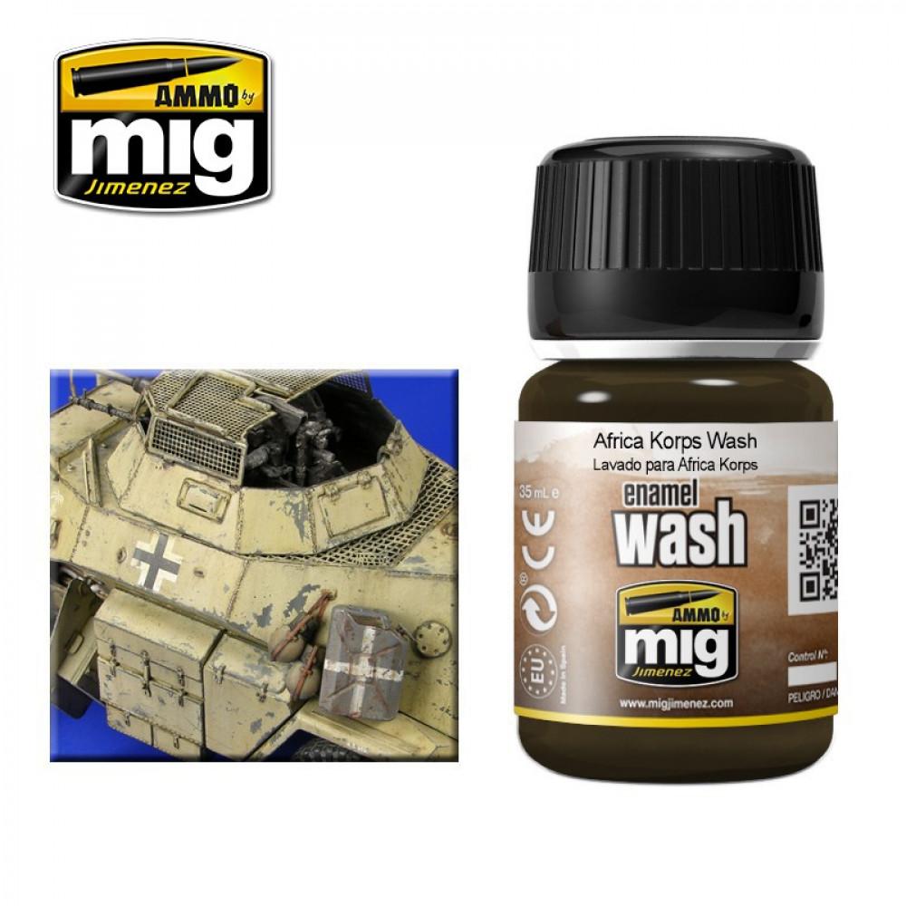 PLW Wash for Afrika Korps Ammo Mig 1001