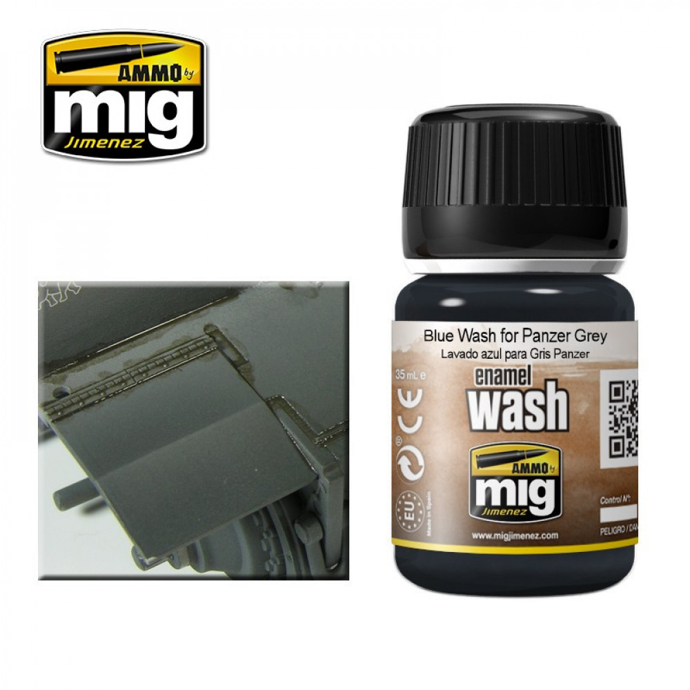 BLUE WASH FOR PANZER GREY Ammo Mig 1006