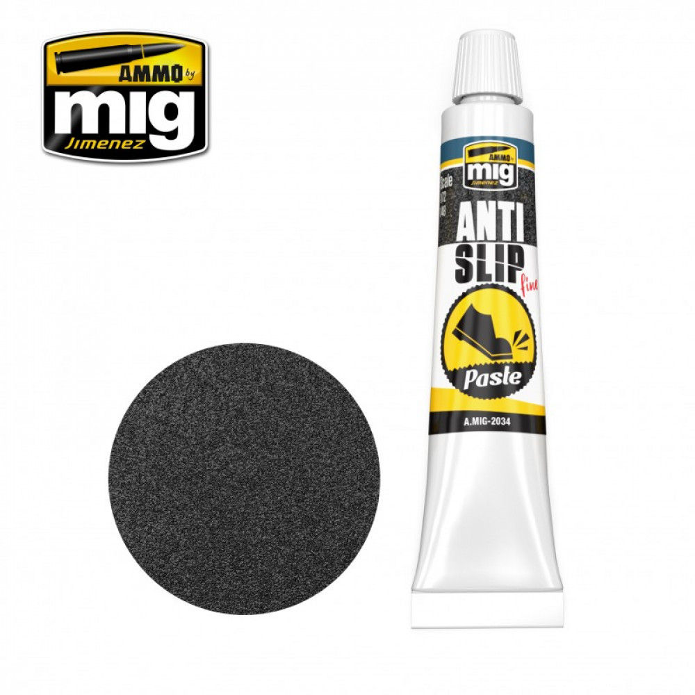 ANTI-SLIP PASTE - BLACK COLOR FOR 1/72 & 1/48 20 ml Ammo Mig AMIG2034