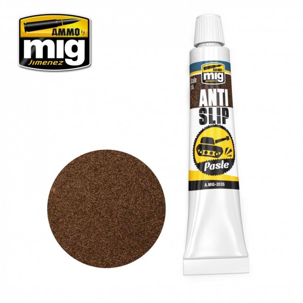 ANTI-SLIP PASTE - BROWN COLOR FOR 1/35 20 ml Ammo Mig AMIG2035