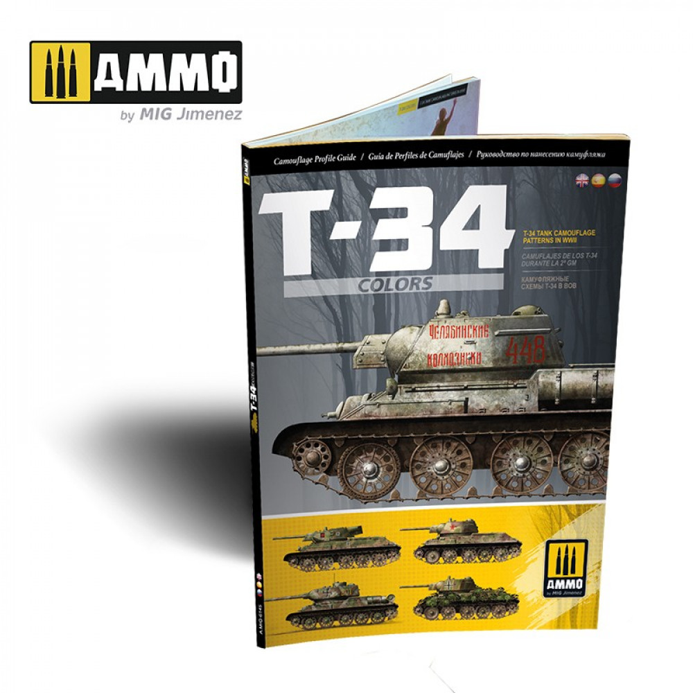 T-34 Colors. T-34 Tank Camouflage Patterns in WWII (Multilingual) AmmoMig AMIG6145