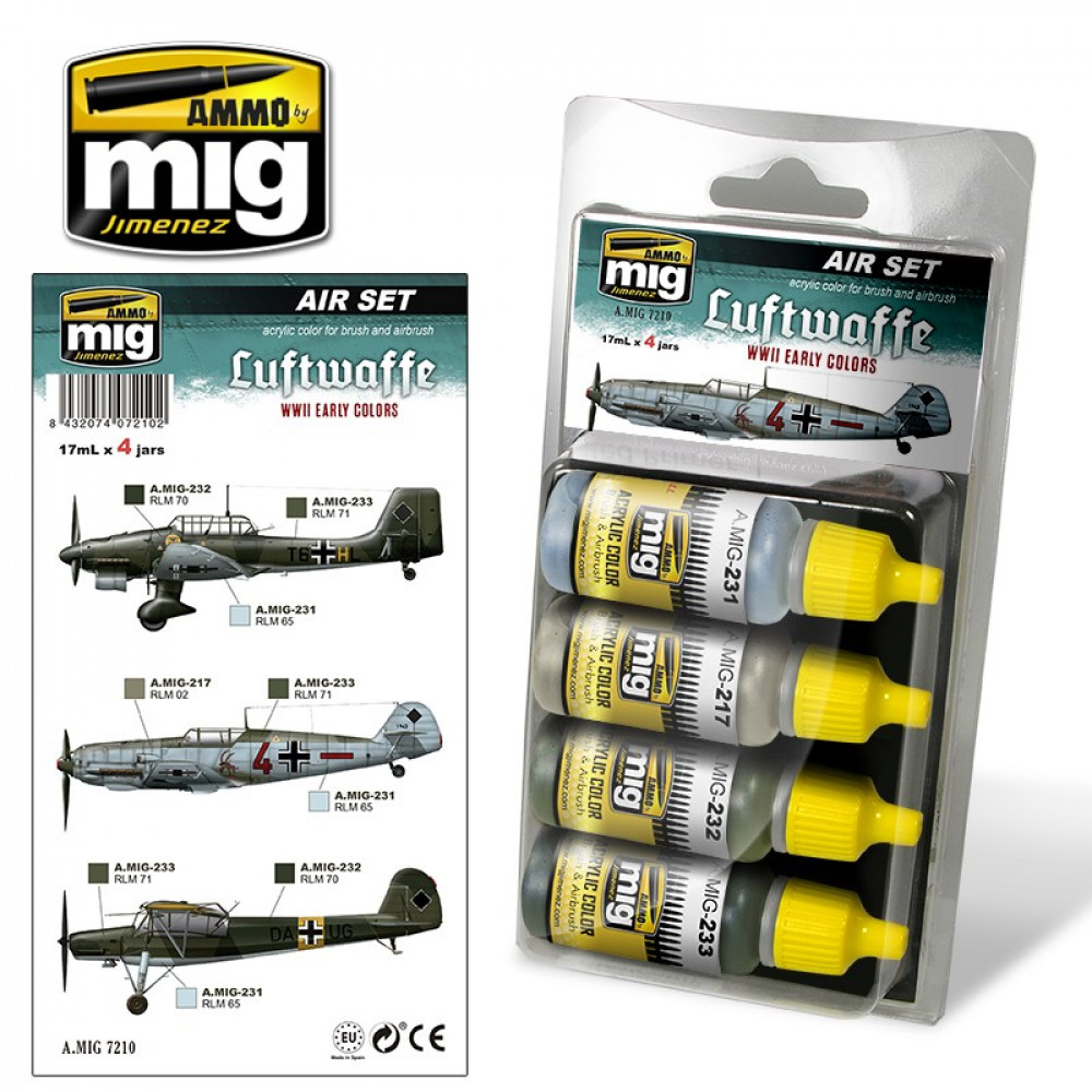 LUFTWAFFE WWII EARLY COLORS - Color Set AmmoMIg 7210