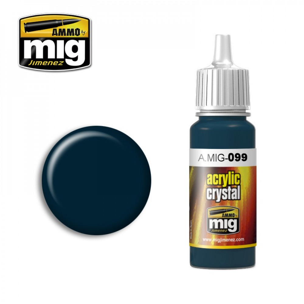 CRYSTAL BLACK BLUE AMIG0099 AmmoMig (17ml)