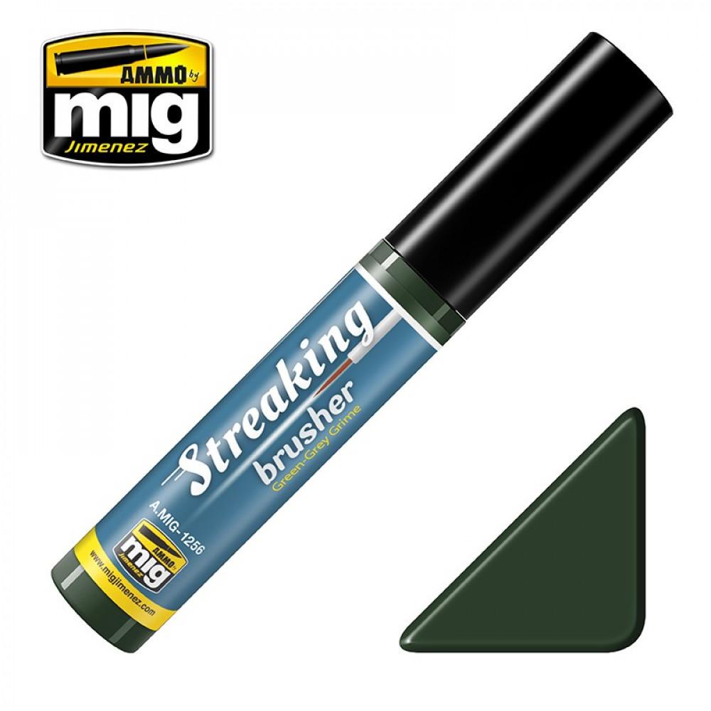 GREEN-GREY GRIME - STREAKINGBRUSHER (Ammo Mig) AMIG1256