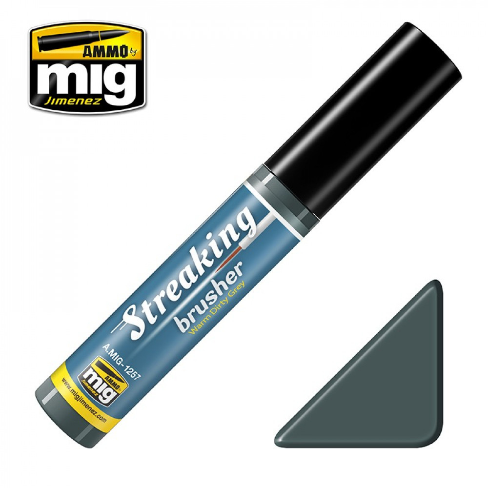 WARM DIRTY GREY - STREAKINGBRUSHER (Ammo Mig) AMIG1257