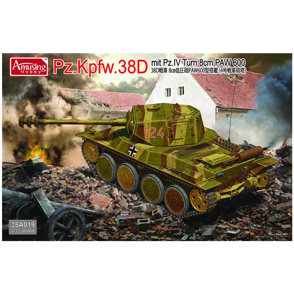 Pz.Kpfw.38D mit Pz.IV Turm 8cm PAW 600 1/35 Amusing Hobby  35A019