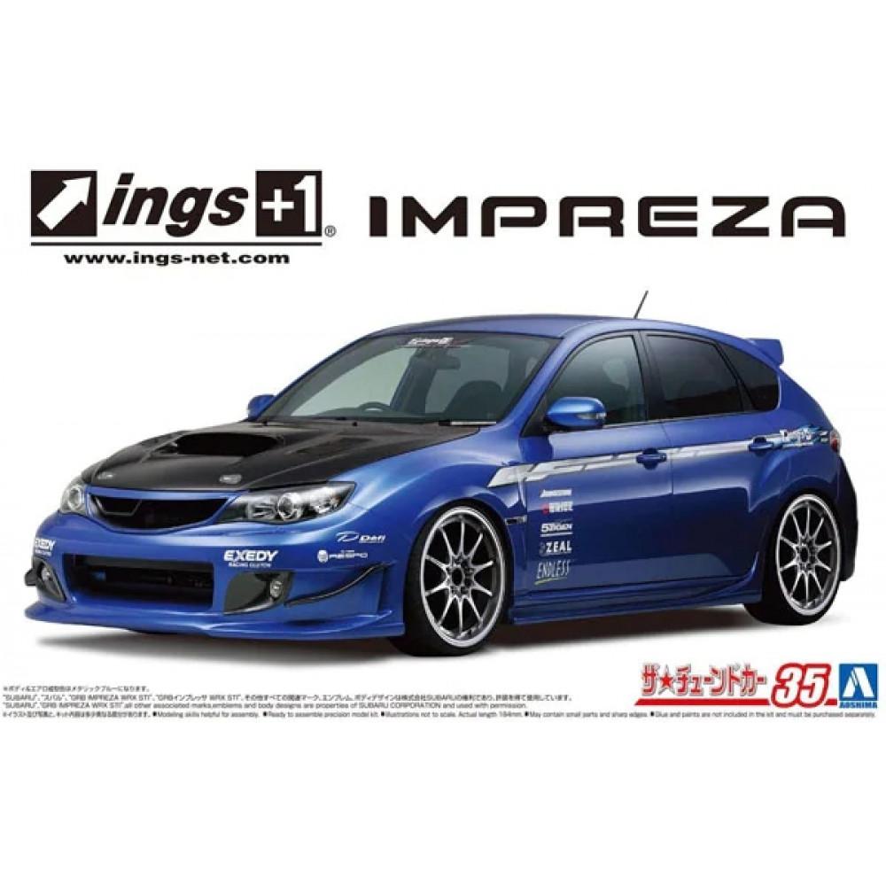 SUBARU ings GRB IMPRESA WRX STI '07 1/24 Aoshima 05875