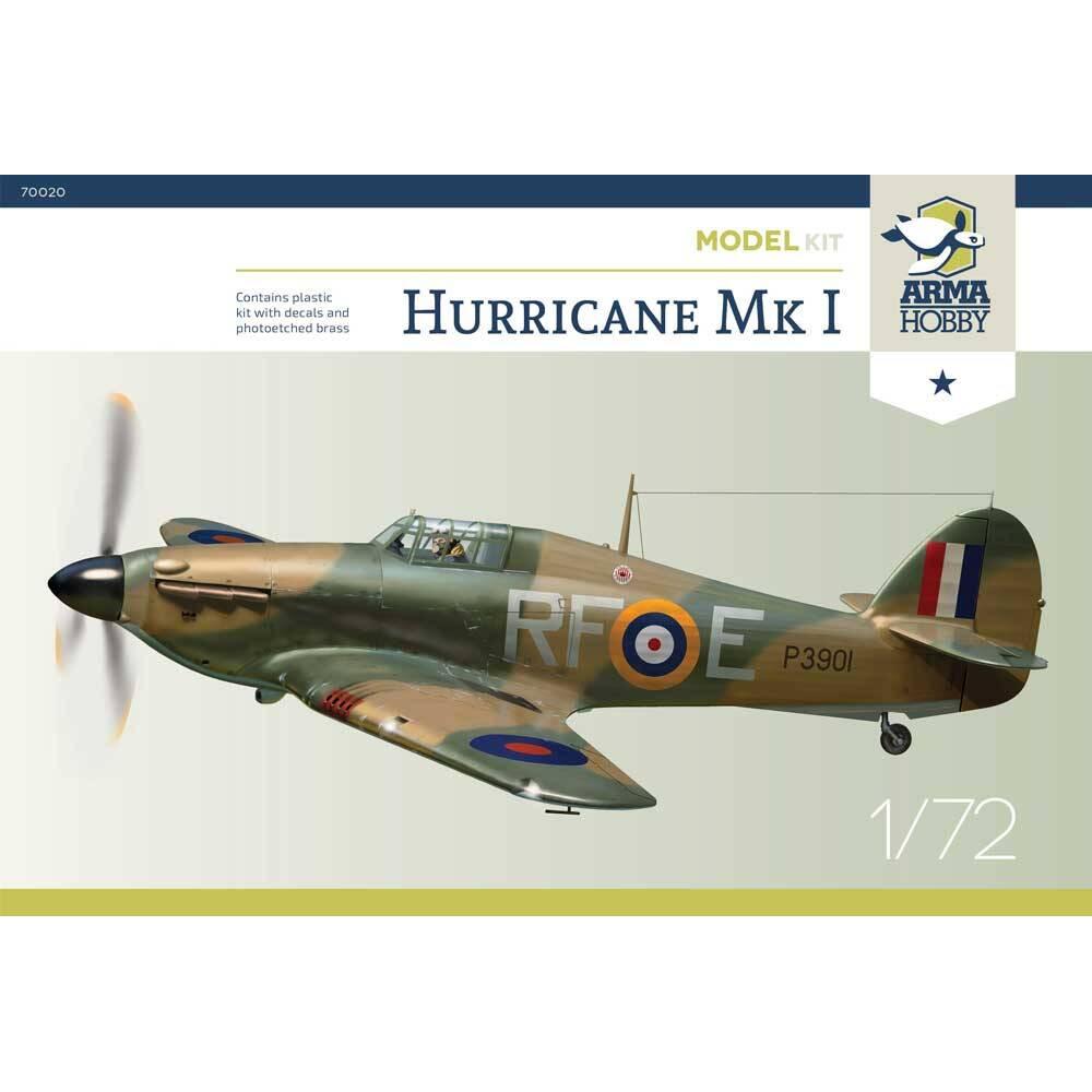 Hurricane Mk I - 303 Squadron PAF - Model Kit! 1/72 Arma Hobby 70020