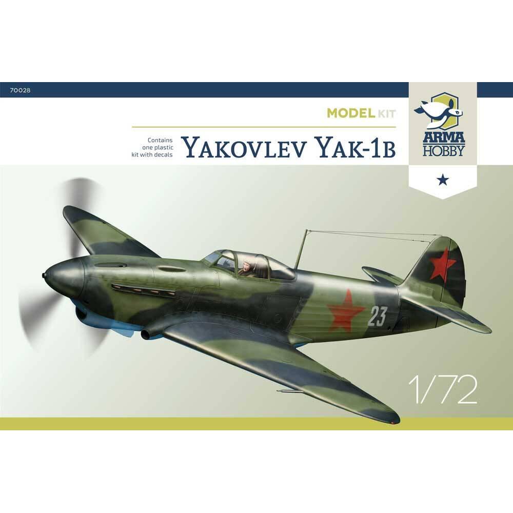 Yakovlev Yak-1b Model Kit 1/72 Arma Hobby 70028
