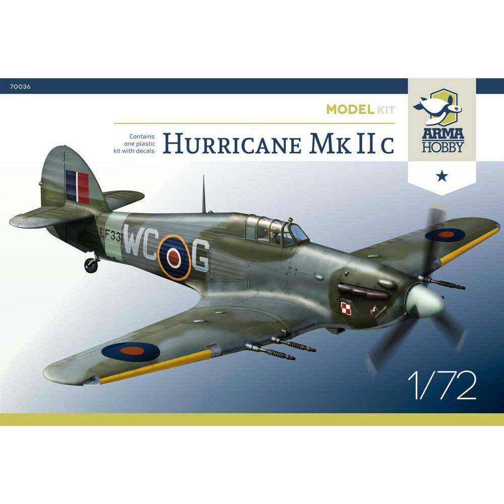 Hurricane Mk IIc Model Kit! 1/72 Arma Hobby 70036