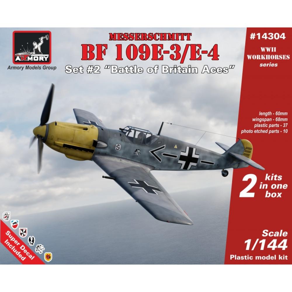 """Messerschmitt Bf 109E """"Battle of Britain Aces""""  1/144 Armory models AR14304"""