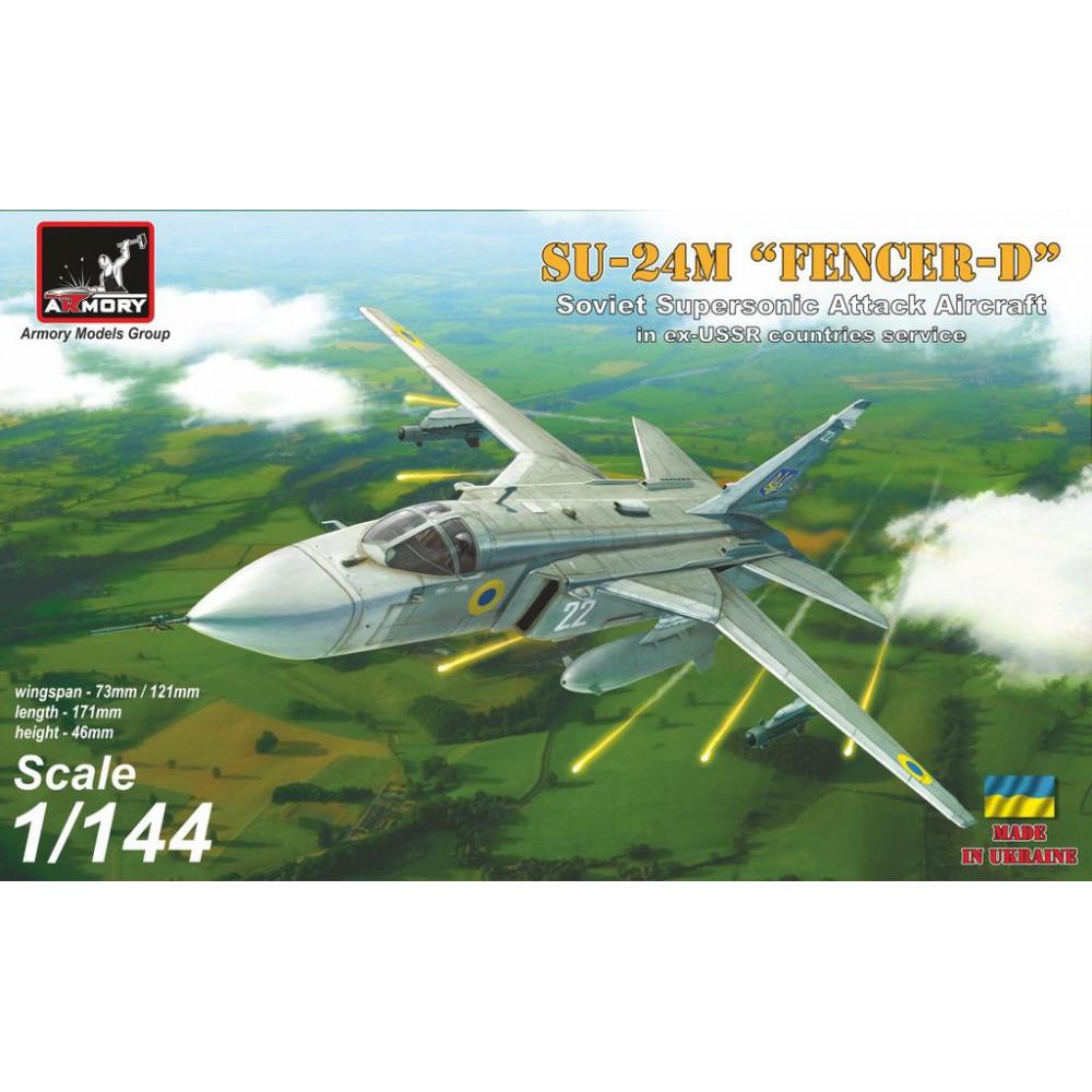 "Sukhoj Su-24M ""Fencer"" in ex-USSR countries service: USSR, Ukraine, Belarus' 1/144 Armory models AR14702"