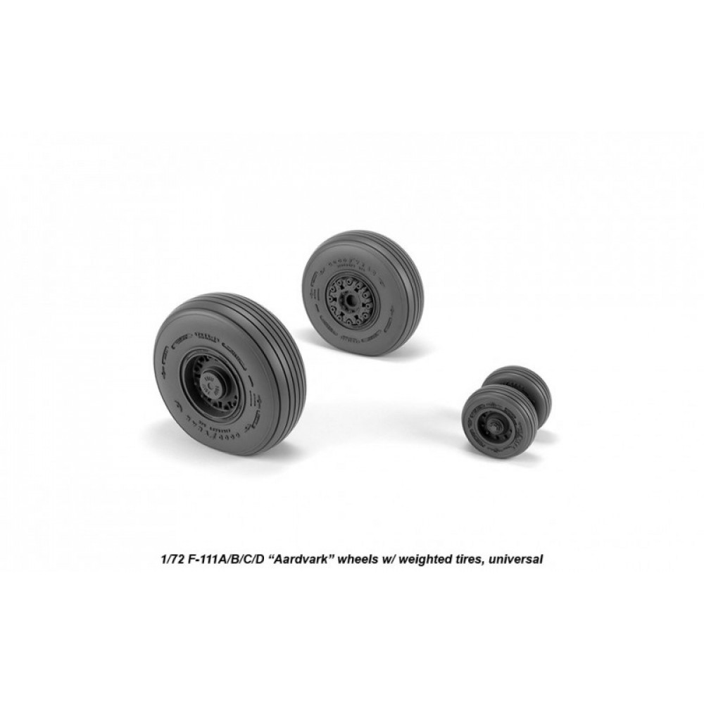 F-111 Aardvark early type wheels w/ weighted tires 1/72 Armory Models AR AW72337