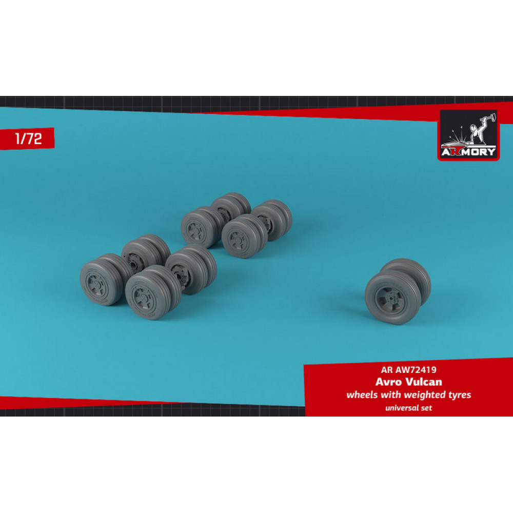 Vulcan - wheels w/ weighted tires 1/72 Armory Models AR AW72419