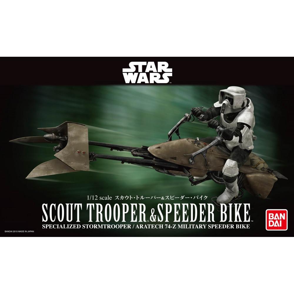 Scout Trooper & Speeder Bike Star Wars 1/12 Bandai 196693