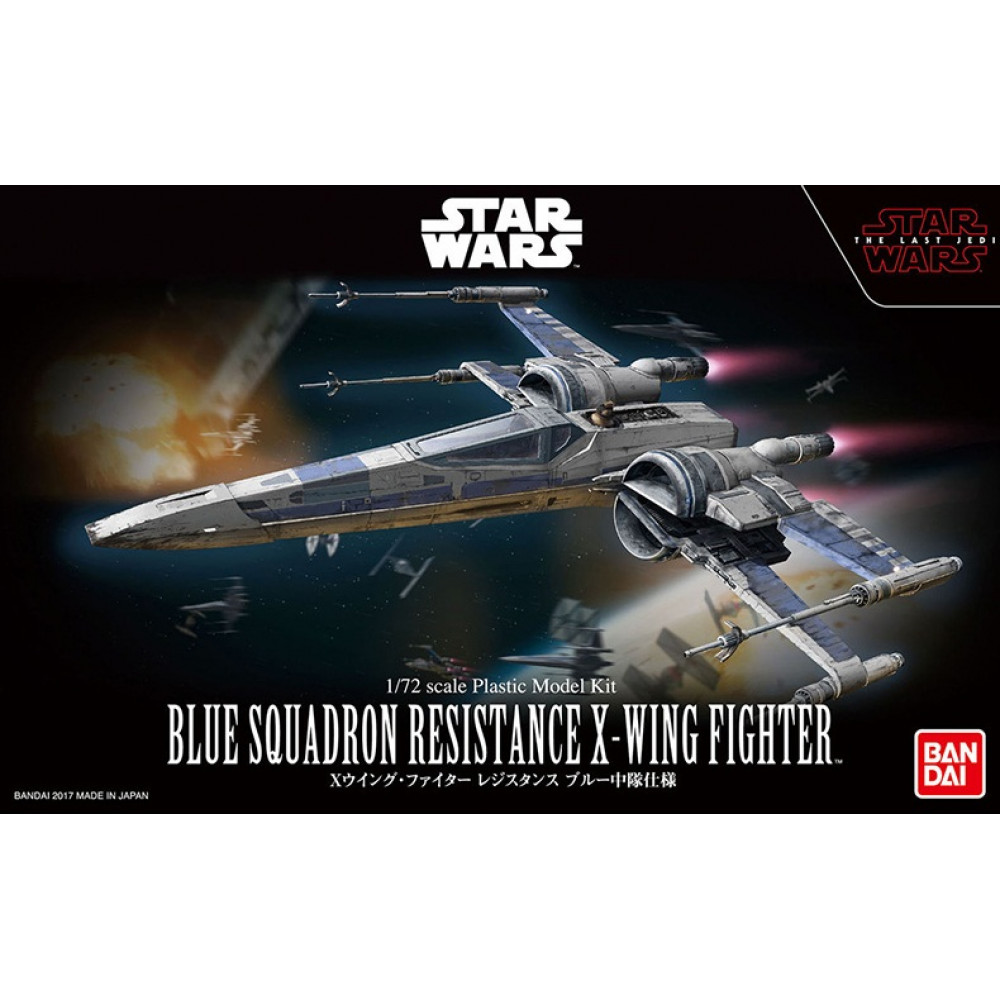 Blue Squadron Resistance X-Wing Fighter  1/72 Bandai Star Wars 232964