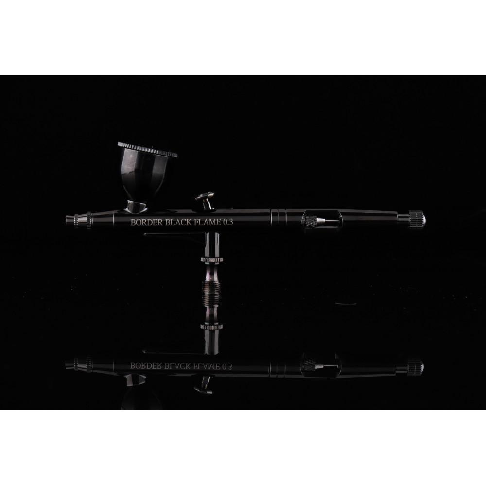 Airbrush - BLACK FLAME  (0,3 mm) Border Model 0201