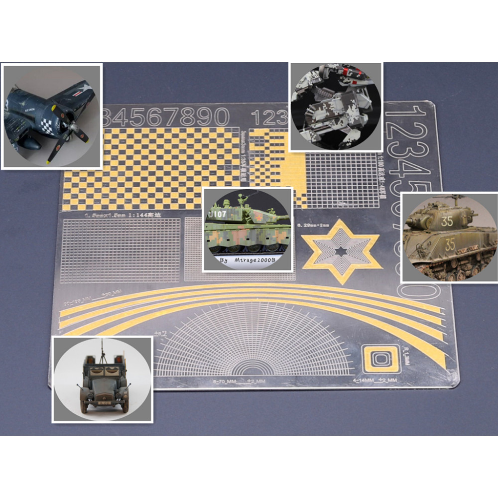 Military Up To Model Coloring Multi-Purpose Coating Cover Paper Cutting Mat Border Model BD0012