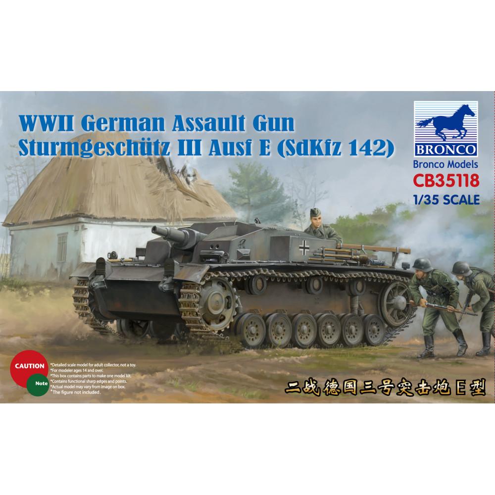 Sturmgeschutz III Ausf.E германское самоходное штурмовое орудие  1/35 Bronco Models 35118
