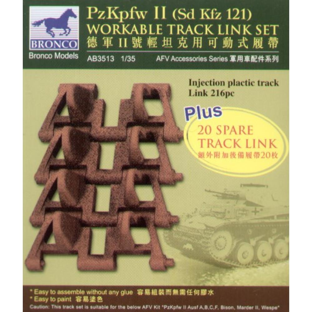 """PzKpfw II"" Track Link Set   1/35 Bronco Models 3513"