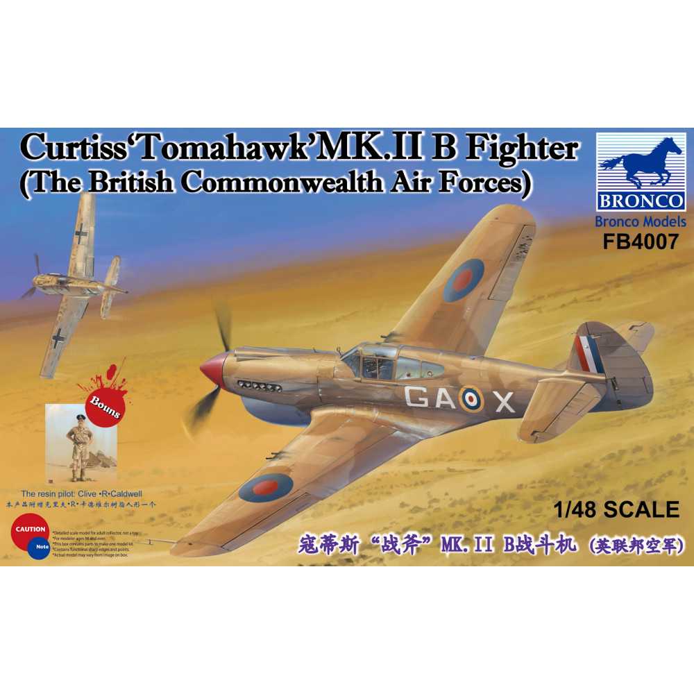 Curtiss Tomahawk MK.II B Fighter The British Commonwealth Air Forces  1/48 Bronco Models FB4007