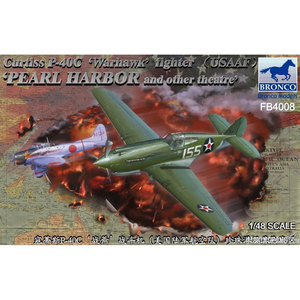 Самолёт Curtiss P-40C Warhawk Fighter  1/48 Bronco Models FB4008