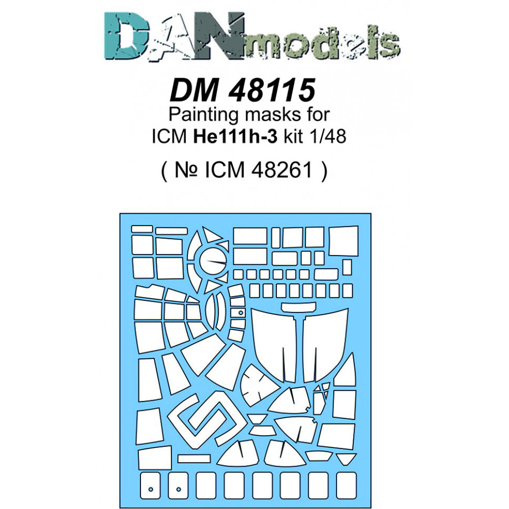 Painting masks for ICM He111 H-3 kit ( ICM 48261 )  1/48 DANmodels  48115