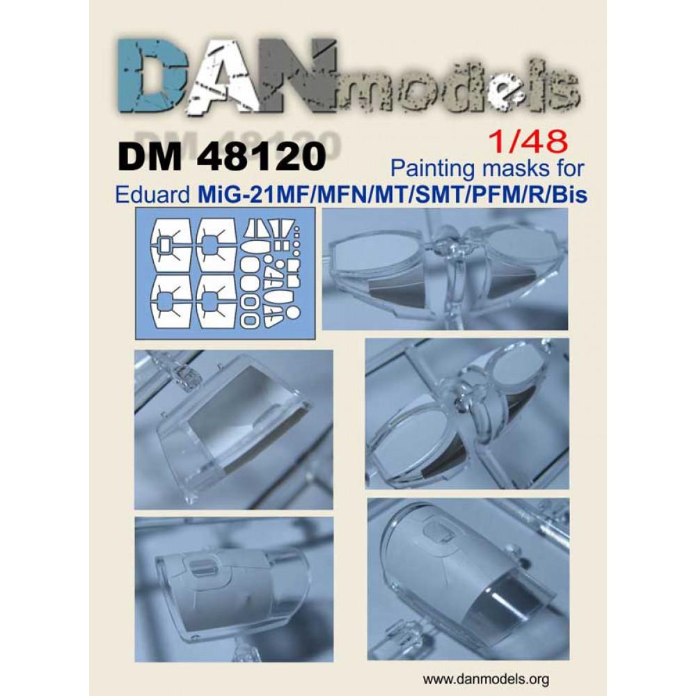 Маска для модели самолета МиГ-21 ( Eduard MiG-21MF/MFN/MT/SMT/PFM/R/Bis ) 1/48 DANmodels  48120