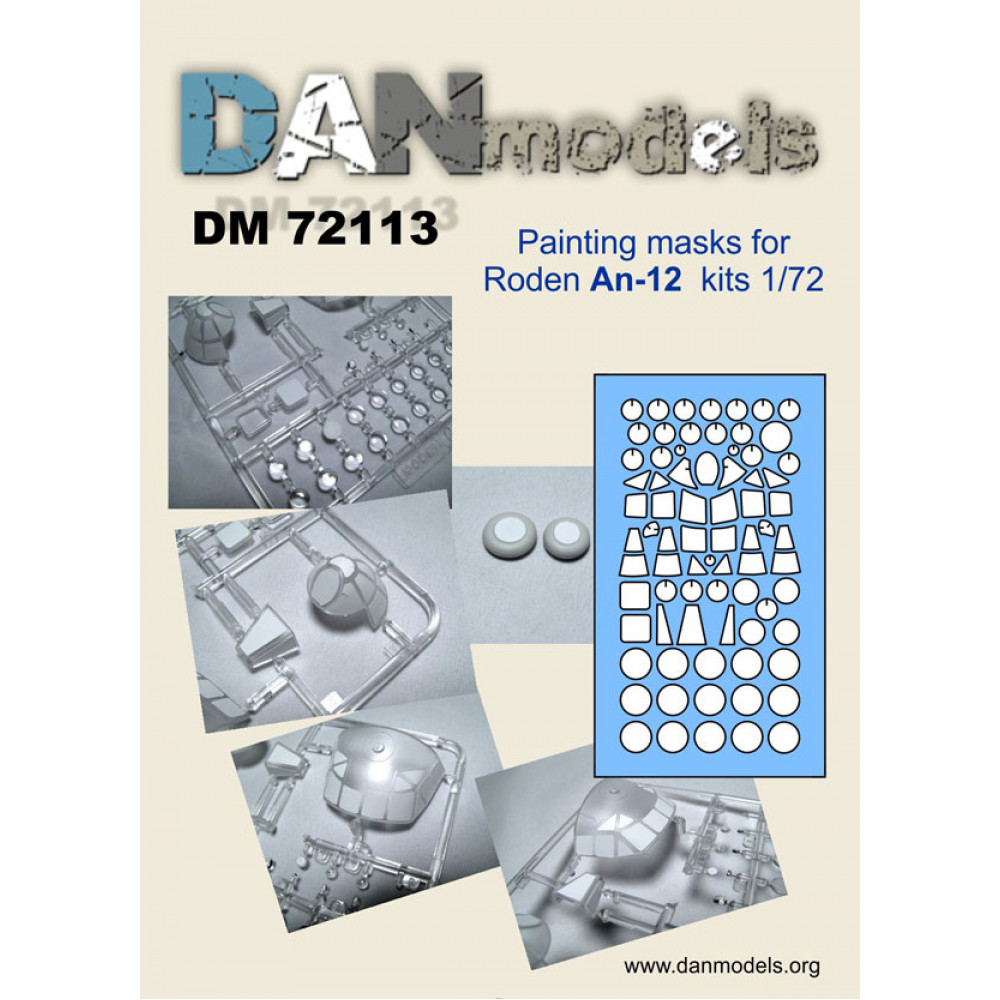 Painting masks for Roden An-12 kits (1/72) 1/72 DANmodels  72113