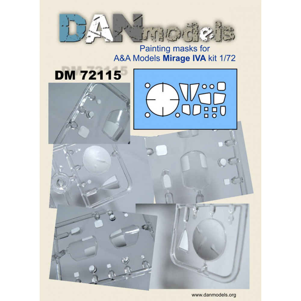 Painting masks for A&A Mirage IVA (1/72) 1/72 DANmodels  72115