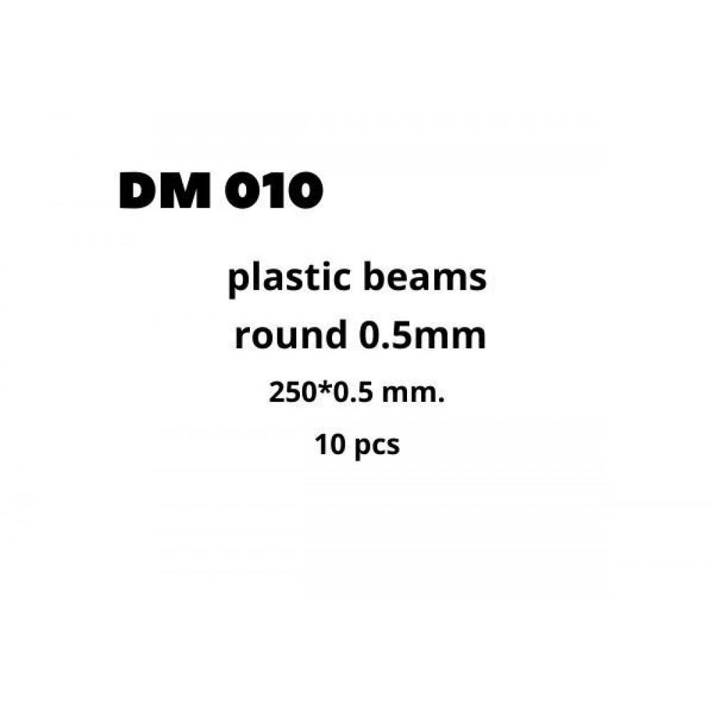 Plastic Beams 0.5mm 10 pcs  DANmodels DM010