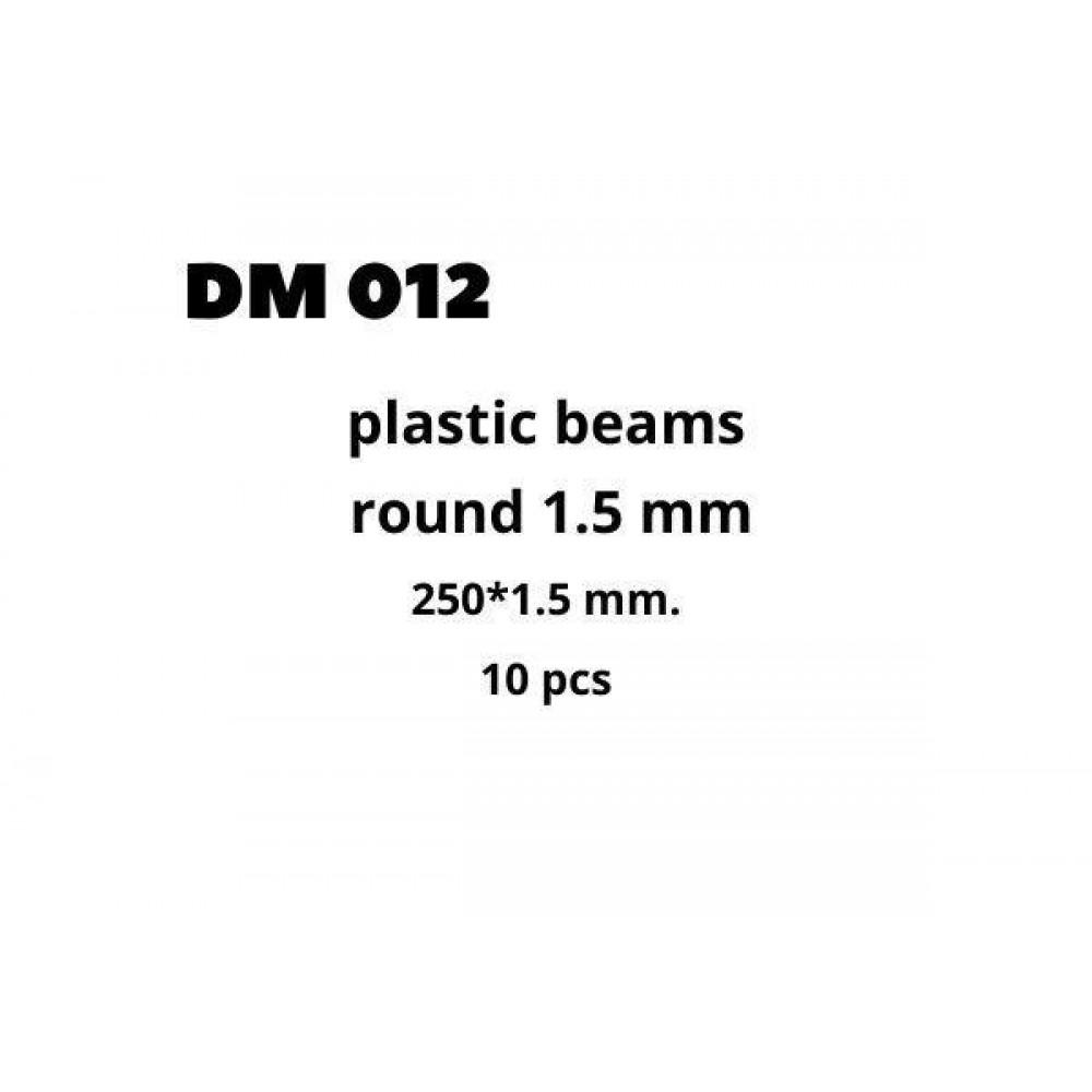Plastic Beams 1.5mm 10 pcs  DANmodels DM012